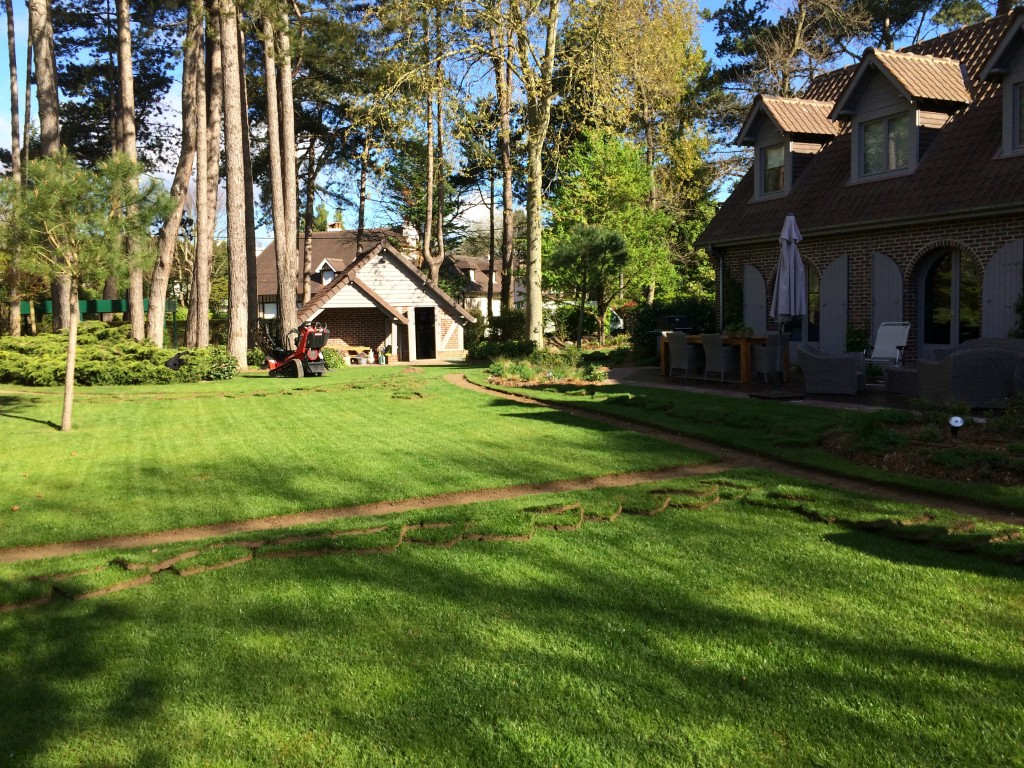 Chantier d'arrosage automatique au Touquet